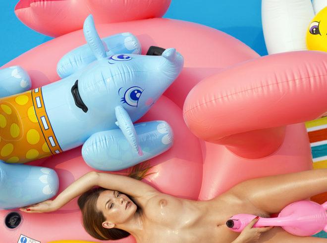 Model Olga Kobzar photographed by Ana Dias for Playboy