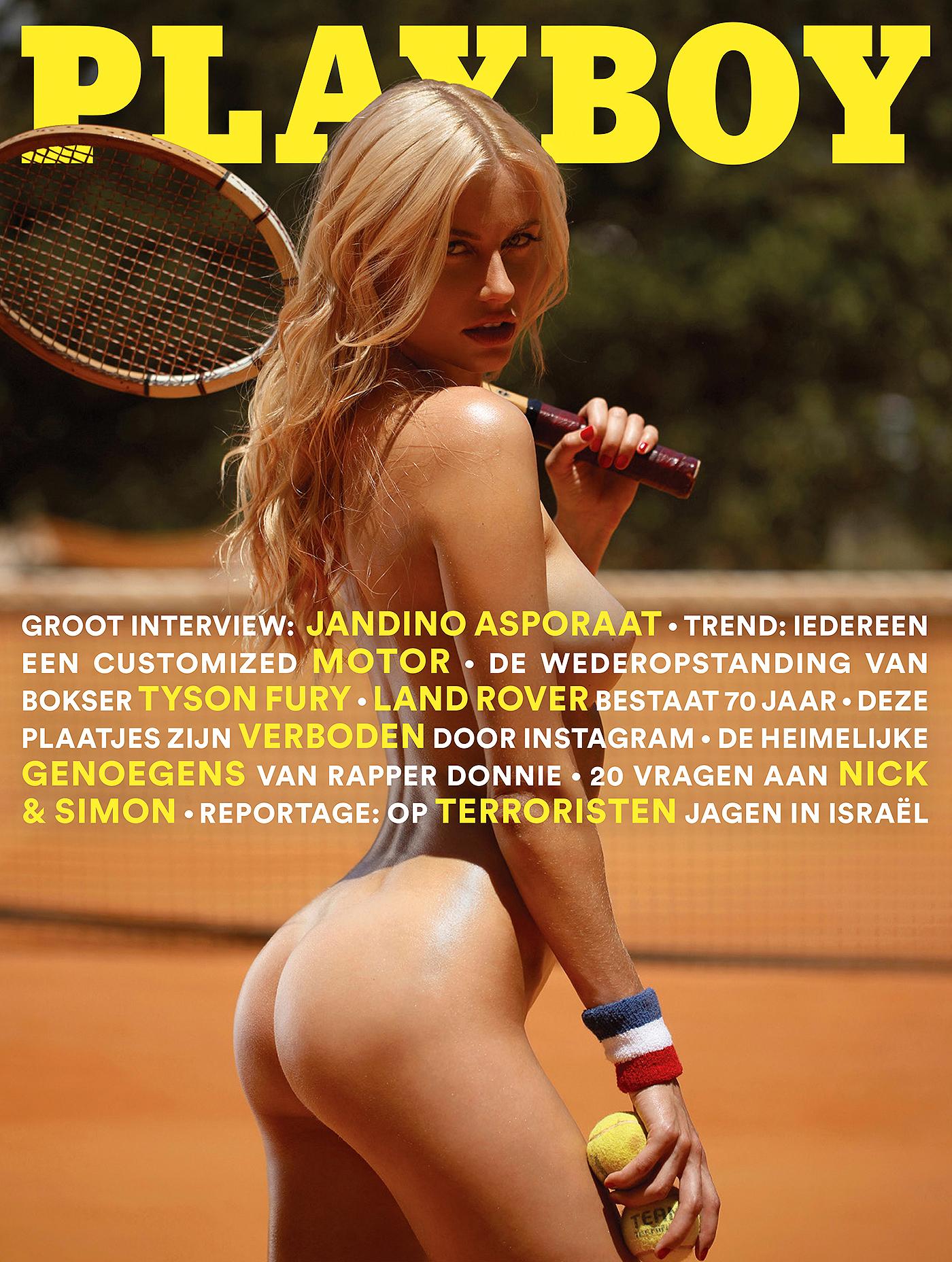 Playboy cover by Ana Dias with model Olga De Mar