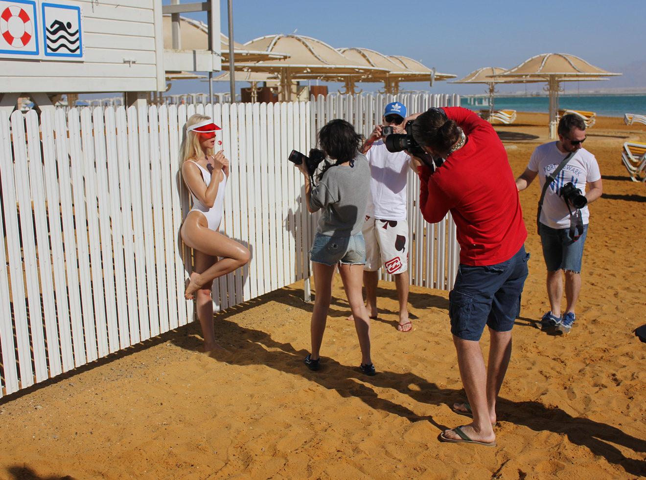 Ana Dias shooting for Playboy