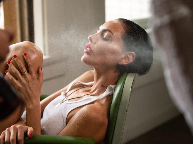 Ana Dias photographing Teela LaRoux for Playboy