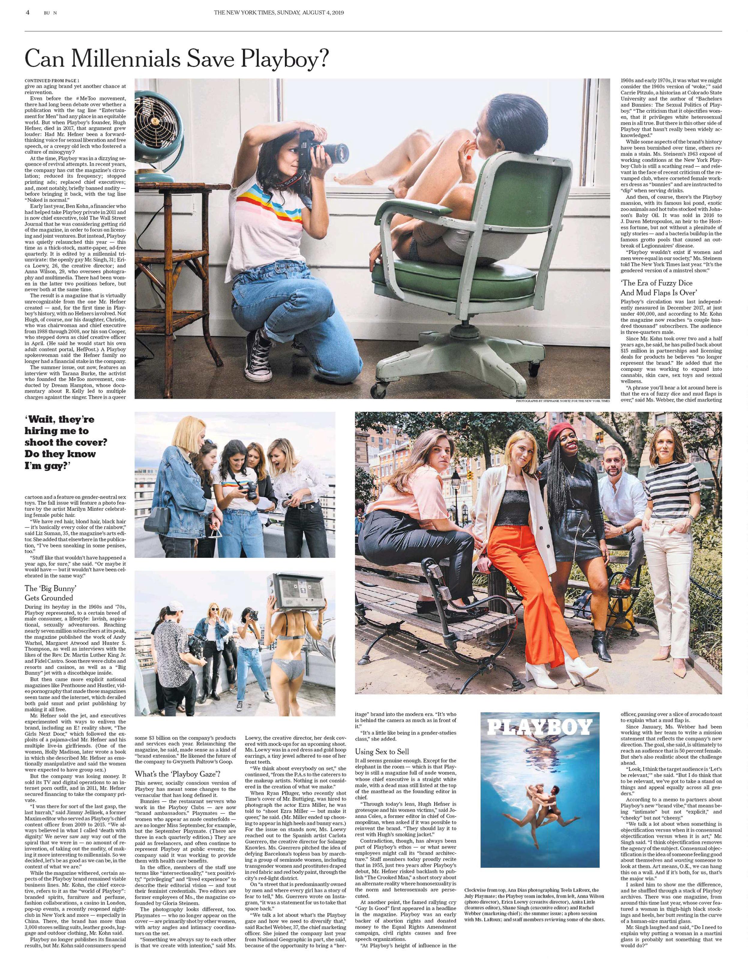 Ana Dias photographing Teela LaRoux NYTimes