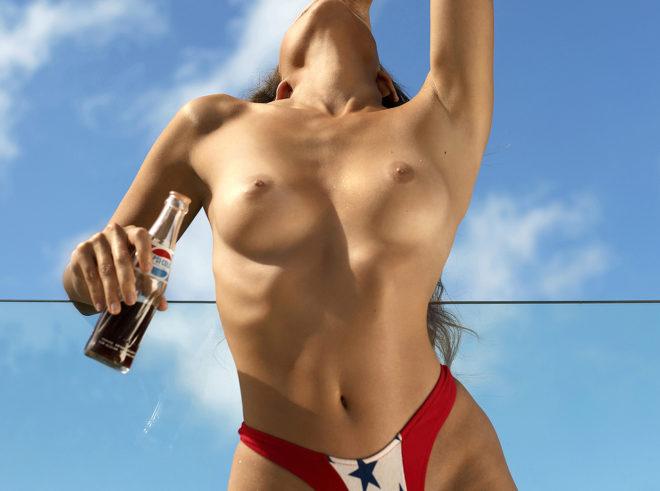 Ana Dias photographing Yoli Lara for Playboy