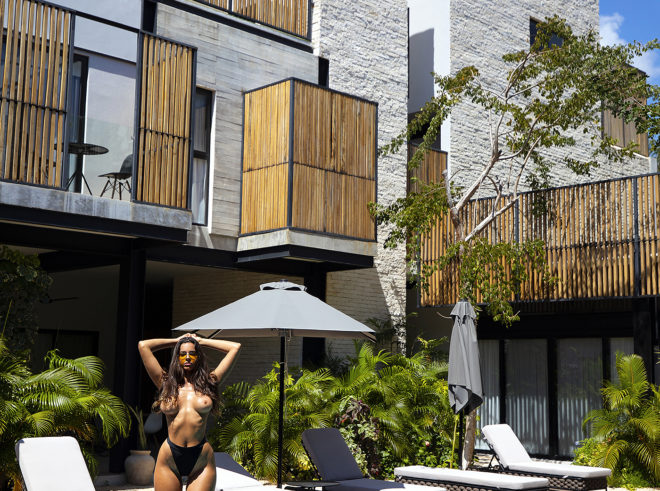 Priscilla Huggins Ortiz nude for Playboy in Mudra Tulum
